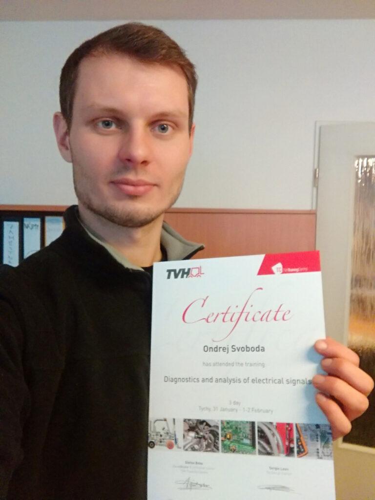 Certifikát ze školení
